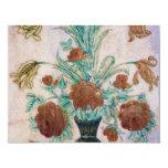 Flores de mármol del mosaico invitación 10,8 x 13,9 cm