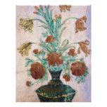 Flores de mármol del mosaico membretes personalizados