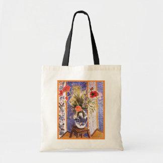 Flores de Matisse en un cuenco Bolsas De Mano