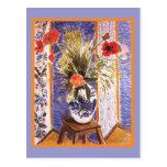 Flores de Matisse en un cuenco Tarjeta Postal