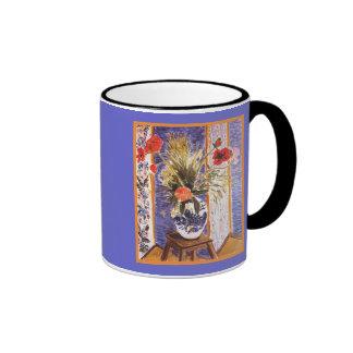 Flores de Matisse en un cuenco Tazas De Café
