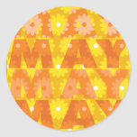 Flores de mayo etiquetas