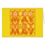 Flores de mayo felicitación
