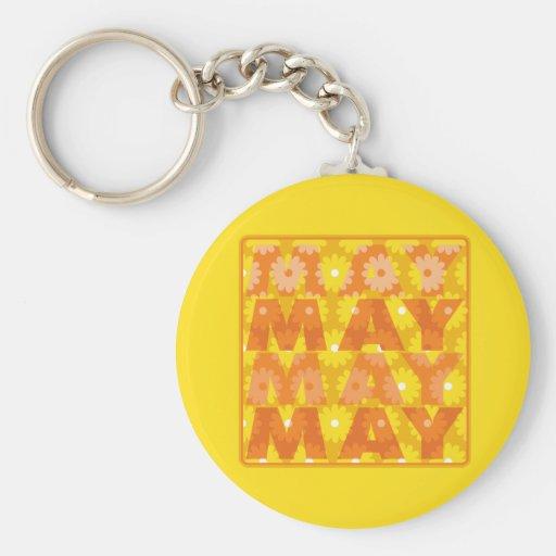 Flores de mayo llaveros personalizados