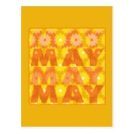 Flores de mayo tarjeta postal