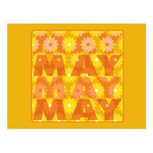 Flores de mayo tarjetas postales