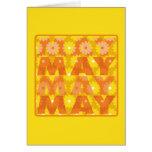 Flores de mayo tarjetón