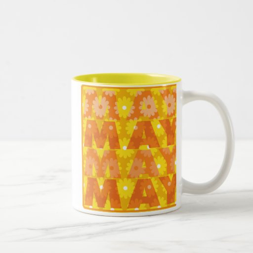 Flores de mayo taza de café de dos colores