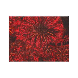 Flores de medianoche impresión en lienzo