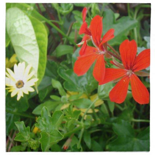 Flores de mi jardín servilletas imprimidas