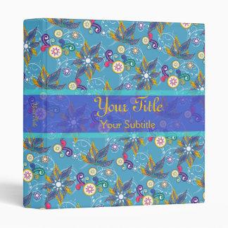 """Flores de molinillo de viento azules carpeta 1"""""""