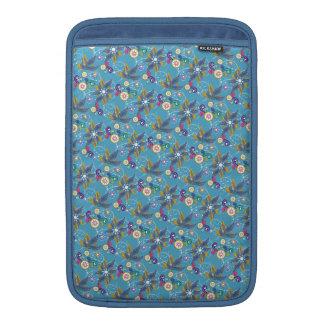 Flores de molinillo de viento azules funda  MacBook