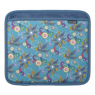 Flores de molinillo de viento azules funda para iPads