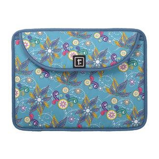 Flores de molinillo de viento azules funda para macbook pro