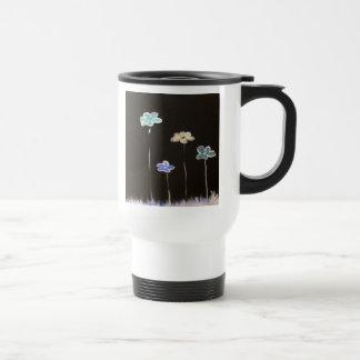 flores de neón taza