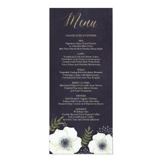 Flores de noche de verano que casan la tarjeta del invitación 10,1 x 23,5 cm