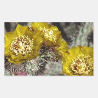 Flores de oro del cactus pegatina