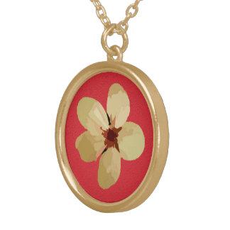 Flores de oro del ciruelo colgante redondo