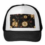 Flores de oro gorras de camionero