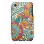 Flores de Paisley del vintage Case-Mate iPhone 3 Carcasa