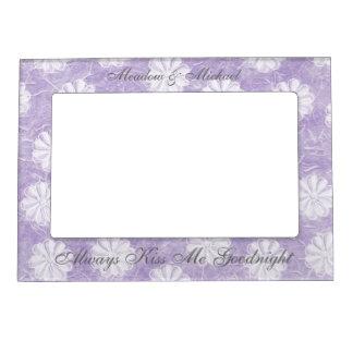Flores de papel de arroz de la lavanda marcos magneticos para fotos