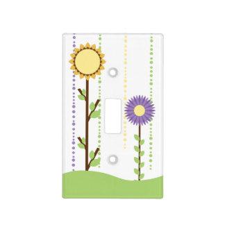Flores de papel de la primavera caprichosa placas para interruptor