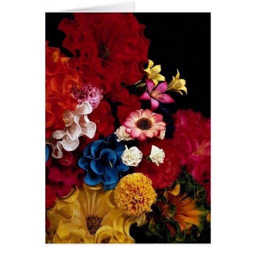 Flores de papel de México Tarjeton