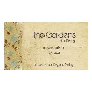 Flores de papel naturales antiguas tarjetas de visita