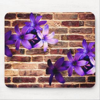 Flores de pared de ladrillo Mousepad. Alfombrilla De Raton