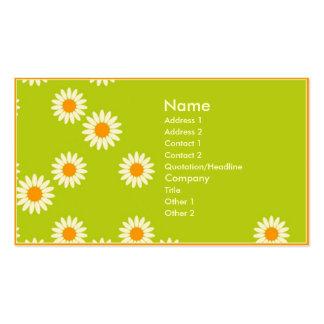 Flores de pared plantilla de tarjeta de negocio
