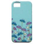 Flores de pavo real iPhone 5 carcasas