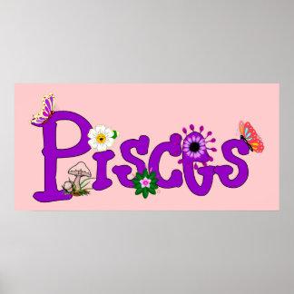 Flores de Piscis Póster