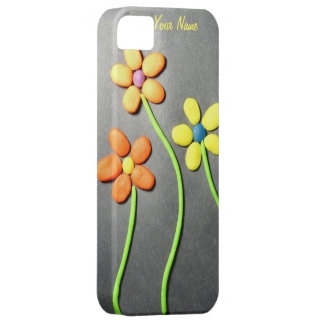Flores de Playdough de la primavera iPhone 5 Fundas