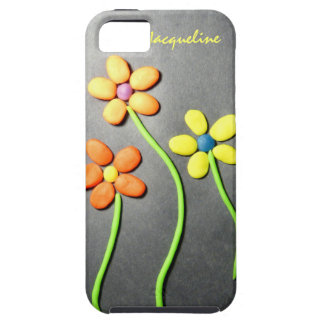 Flores de Playdough de la primavera iPhone 5 Funda