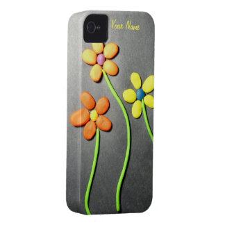 Flores de Playdough de la primavera Case-Mate iPhone 4 Fundas