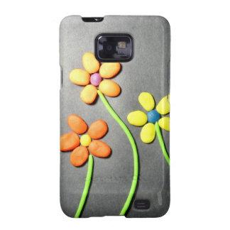 Flores de Playdough de la primavera Samsung Galaxy S2 Funda