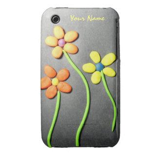Flores de Playdough de la primavera iPhone 3 Cobertura