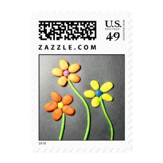 Flores de Playdough de la primavera Franqueo