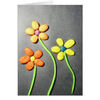 Flores de Playdough de la primavera Tarjeta De Felicitación