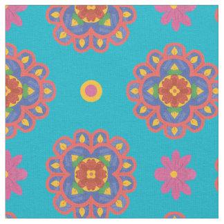 Flores de Rangoli, lunares en la tela de Telas