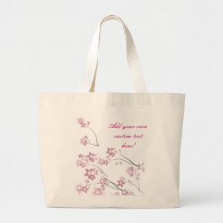 Flores de Sakura Bolsa Tela Grande