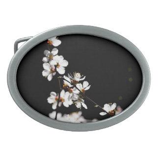 Flores de Sakura Hebilla De Cinturón Oval