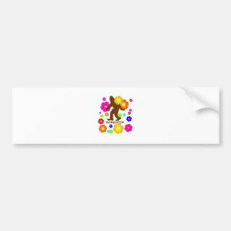 Flores de Sasquatch Etiqueta De Parachoque