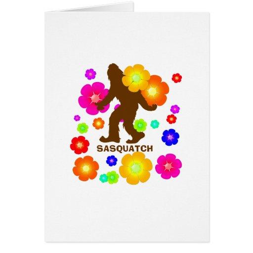 Flores de Sasquatch Tarjeta De Felicitación