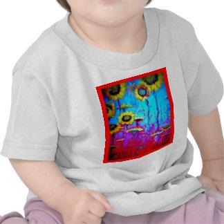 Flores de Sun de la luz de luna azul por Sharles Camiseta