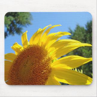 Flores de Sun del cojín de ratón del amarillo del Tapetes De Ratón