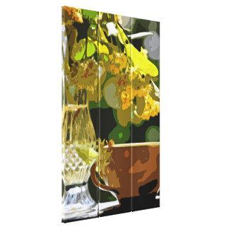 Flores de tilo impresión en tela