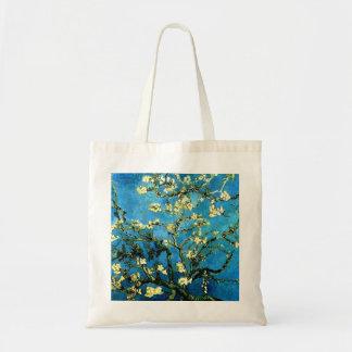 Flores de Van Gogh Apple del tote del presupuesto Bolsa Tela Barata