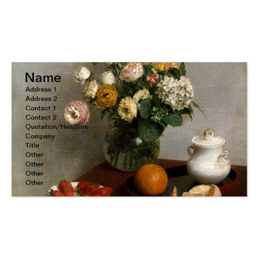 Flores de Verão e Frutos Business Cards