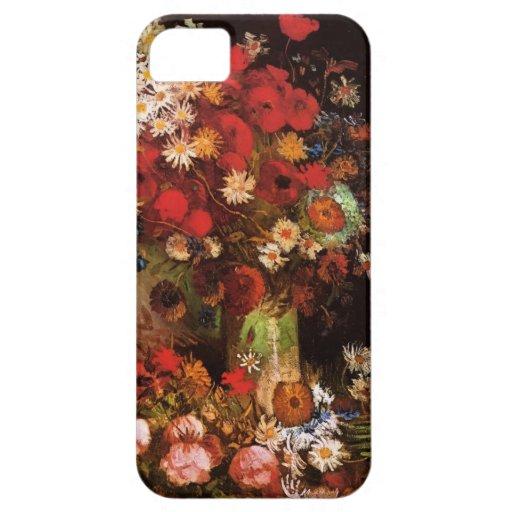 Flores de Vincen Van Gogh iPhone 5 Protectores
